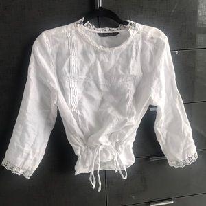 White Linen Blouse